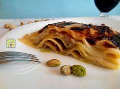 Lasagne pesto di pistacchi e prosciutto