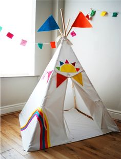 Personalised funky play teepee, playmat and bag set. Great for indoors,garden or beach. Grows with your child. New to Wild Things Play, this funky ...