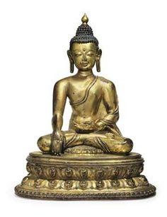 A Gilt Bronze Figure of Buddha, Nepal, 14th century, 23 3/8 in. (59.4 cm.) high. Estimate: $400,000-$600,000. Photo: Christie's Images Ltd