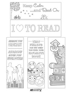 Free printable bookmarks from Gumdrop Books.  To print, click on the image to make it larger then print.