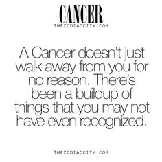 cancer doesn't just walk away for no reason
