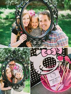 Hello Kitty! photo booth props for this super adorable Hello Kitty! birthday party. Fab party ideas here!!