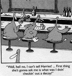 Can't tell Harriet! The Far Side ~ Gary Larson Far Side Cartoons, Far Side Comics, Funny Cartoons, Funny Jokes, Hilarious, Funny Sarcasm, Gary Larson Comics, Gary Larson Cartoons, Gary Larson Far Side
