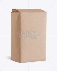 Kraft Paper Flour Bag Mockup - Halfside View