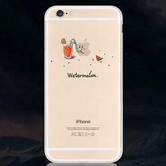 creatieve monster drinken watermeloensap patroon groene transparante TPU Case voor iPhone 6s 6 plus – EUR € 4.89