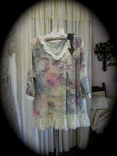 Large Shabby Chic Top, romantic French garden by TatteredDelicates