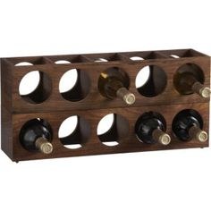 love the look of these wine racks from Crate & Barrel...but I don't really need to be spending money on them.  Hm...what to upcycle instead?