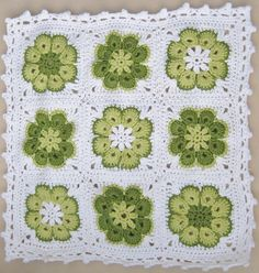 "Granny Square ""Somalia"" - Kissen - Aug 2012 by christineege, via Flickr"