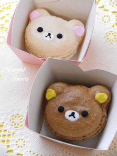 (104) Rilakkuma & Korilakkuma Macarons {No Recipe} | foods/ sweets/ and the slightly edible ♥•♥•♥• | Pinterest
