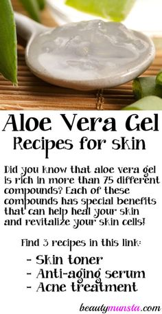 natural skin remedies Beautiful skin lovers, you need to know about the incredible benefits of aloe vera gel. Take note of some of the best aloe vera gel recipes to take your skin care to a whole new (natural) level! Diy Aloe Vera Gel, Gel Aloe, Aloe Vera For Skin, Aloe Vera Skin Care, Aloe For Acne, Aloe Vera Uses, Skin Care Regimen, Skin Care Tips, Skin Tips