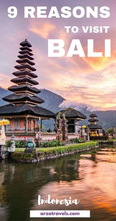 9 reasons I loved Bali and why  think you should put it on your bucket list as well. Indonesia. Pura Ulun Danu Bratan, Hindu temple on Bratan lake landscape