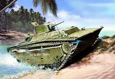 1944 Peleliu LVT(A)-1 box art Italeri The LVT(A)-1 with LVT being short for Landing Vehicle Tracked and (A) means it is armored.These machines carried a crew of 5 to run the craft and to man the guns. The main purpose ofthe LVT(A)-1 was fire support...