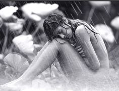 Love being naked in the rain, one of life's best feelings. <3