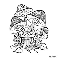 sketch for adult coloring pages - Free Printable Mushroom Coloring Pages
