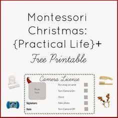 Montessori Christmas: {Practical Life}+ FREE PRINTABLE   Montessori Nature