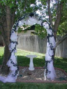 wedding arches | wedding arch for a backyard wedding, wedding archways, outdoor wedding ...