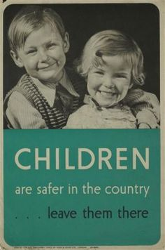 Britain's evacuee children to get their own memorial at last Second World War evacuation poster. Still good advice. Ww2 Propaganda Posters, The Blitz, World War Two, Vintage Posters, Wwii, Britain, Memories, Words, Women's History