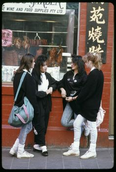 Teenagers in Chinatown, 1989, Melbourne, Australia.