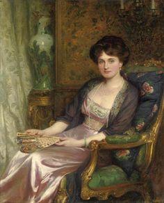 Retrato de la señora George Pinckard - Frank Dicksee