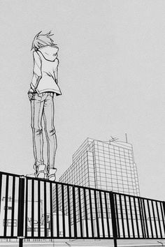 I love reflexive drawings what make you think and imagine what's happening....  <3