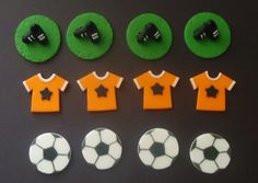 SOCCER Cupcake Toppers on Etsy, $19.99