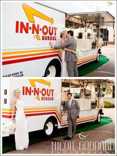 In-N-Out Truck. Bride and Groom. Pepperdine University. Malibu, CA. Nicole Goddard Photography | www.nicolegoddard.com