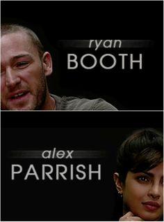Alex and Ryan tumblr #quantico #alexparrish #ryanbooth #ship