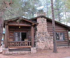 Log Cabin, The Grand Canyon, Arizona photo via sue