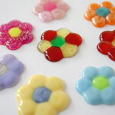 Melted Beads. just put beads in cupcake pan and put oven on 375 then place in oven for 10 min.