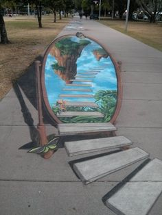 Street Art in Cairns Australia. This is so 3D... amazing! http://statictab.com/s4ismvz