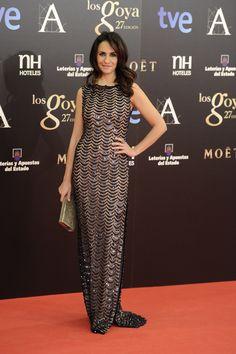 Todas las imágenes de alfombra roja y celebrities de los Premios Goya 2013: Melanie Olivares