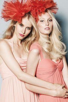 Watters #bridesmaids #dresses #coral