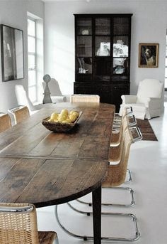 8 Insane Ideas: Dining Furniture Design Home painted dining furniture black chairs.Dining Furniture Makeover Restoration Hardware dining furniture makeover how to paint. Dining Furniture, Dining Room Table, Dining Area, Kitchen Dining, Dining Chairs, Furniture Ideas, Dining Rooms, Wood Table, Rustic Table