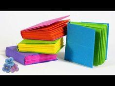 Origami: MICRO CUADERNOS muy FACIL Tutorial Encuadernacion Casera Simple DIY Pintura Facil - YouTube