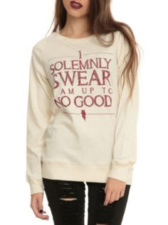 Harry Potter Solemnly Swear Reversible Girls Pullover Top- reversible!! It has Marauder's Map on the other side!! Need this in my closet