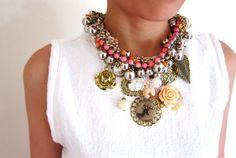 Bauble statement necklace by McKenzieKoe on Etsy, $89.00