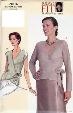 Vogue Pattern 7024  Todays Fit by Sandra  also V302