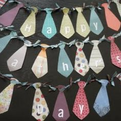 Fathers Day Tie Bunting {Dad Crafts}
