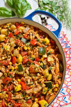 End-of-Summer Herby Chicken Chili. Savor summer flavors a little longer. @farmgirlsdabble
