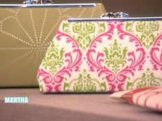 Make your own Fabric Clutch Purse, a Martha Stewart video and instructions. Really gorgeous!
