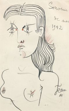 Jean Cocteau (French, 1889 - 1963) - Nude, 1942
