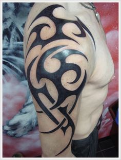 Best Tribal Tattoo Designs For Arms For Men ~ http://tattooeve.com/tattoo-design-for-arms/ Tattoo Design