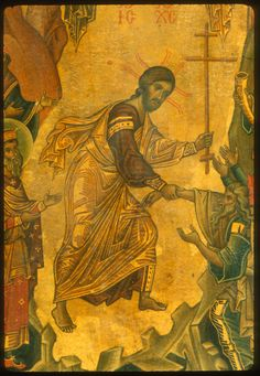 Anastasis · The Sinai Icon Collection Byzantine Icons, Byzantine Art, Religious Icons, Religious Art, Medieval Paintings, Christ Is Risen, Russian Icons, Religious Paintings, Best Icons