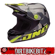 2014 One Industries Atom Youth Motocross Helmets - Camoto Black Grey - 2014 One Industries Motocross Helmets - 2014 One