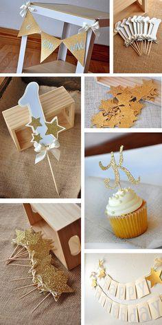 1st Birthday Decorations Number Cupcake by courtneyorillion