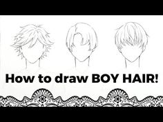 Welcome to a tutorial on how to draw boy (bishie) hair! I really hope this video helps you guys! And you draw along with me! How To Draw How To Draw Anime Hair, Anime Boy Hair, Manga Hair, Drawing Male Hair, Boy Drawing, Drawing Ideas, Drawing Poses, Drawing Tips, Drawing Reference