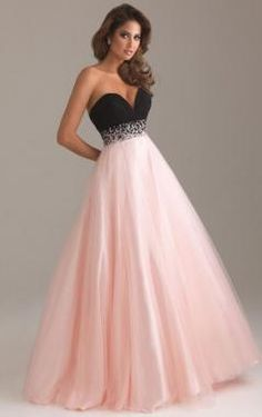 Hot Tulle A-line Strapless Sweetheart Empire Long Prom Dress