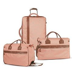 Matching luggage would be such a luxury. Way more sophisticated than my mismatch of free duffle bags and carry-ons from TJ Maxx