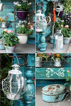 Pflanztisch-collage