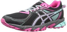ASICS Womens GelSonoma 2 Trail Runner BlackAqua HazeSport Pink 65 M US ** You can find more details by visiting the image link.